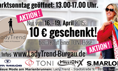 Schwabenecho Marktsonntag Burgau April 2015